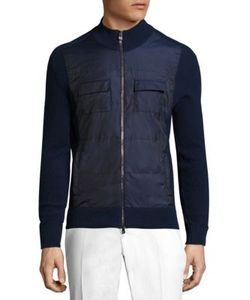 Isaia | Zippe Cotton Blend Jacket
