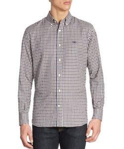 Salvatore Ferragamo | Textured Gingham Button-Down Shirt