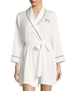 Kate Spade New York   Long Sleeve Embroidered Robe