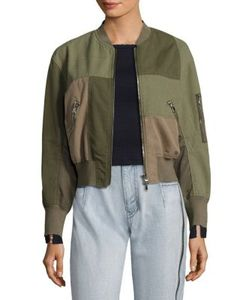 3.1 Phillip Lim | Patchwork Cotton Bomber Jacket