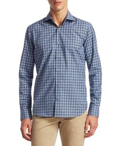 Saks Fifth Avenue | Collection Classic Sport Fit Tonal Plaid Button-Down Shirt
