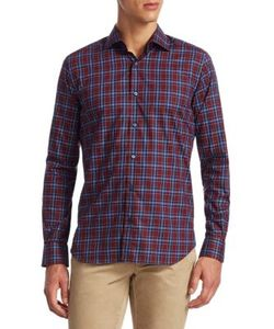 Saks Fifth Avenue | Collection Classic Sport Fit Plaid Button-Down Shirt