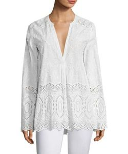 Theory | Ofeliah Cotton Eyelet Blouse