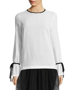 Mother Of Pearl   Patsy Bow Sleeve Wool Top