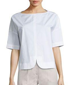 Piazza Sempione | Short-Sleeve Cotton Top