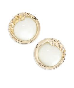 Alexis Bittar | Lucite Crystal Studded Sculptural Sphere Clip-On Earrings