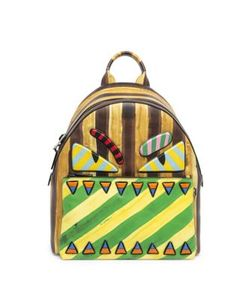 Fendi | Monster Striped Leather Backpack