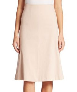Akris | Cotton Double Face A-Line Skirt