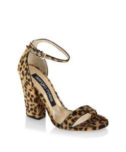 Sergio Rossi | Leah Leopard-Print Calf Hair Ankle-Strap Sandals