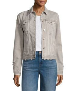 J Brand | Slim-Fit Distressed Denim Jacket