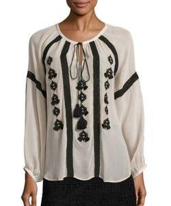 Figue   Tasmeen Embroidered Silk Top