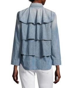 Amo | Ruffle Army Chambray Jacket
