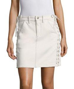 A.L.C.   Ringo Lace-Up Denim Skirt