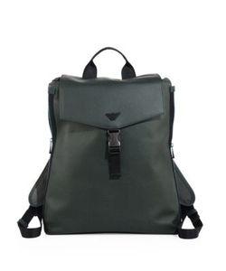 Emporio Armani | Solid Buckle Closure Backpack