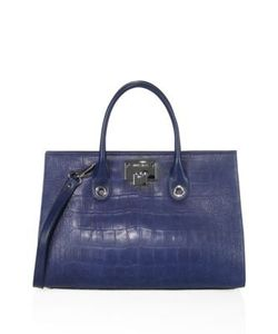 Jimmy Choo | Riley Croc-Embossed Satin Leather Tote
