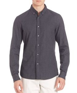 Brunello Cucinelli | Button-Down Chambray Shirt