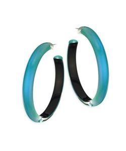 Alexis Bittar   Large Lucite Hoop Earrings/2