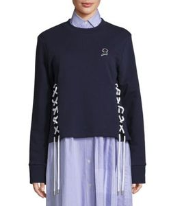 Public School | Leighton Cotton French Terry Lace-Up Sweatshirt