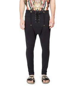 Balmain | Lace-Up Cotton Trousers