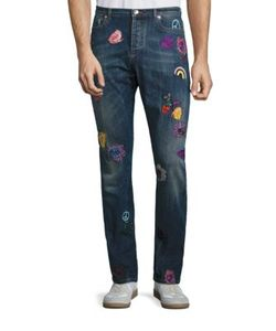 Paul Smith | Slim-Fit Embroidered Jeans