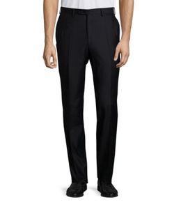 Brioni | Flannel Regular Fit Wool Trousers