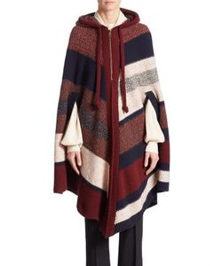 Chloé | Wool Cashmere Colorblock Poncho