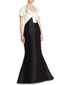 Carolina Herrera | Short Sleeve Bow Gown