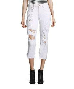 R13   Shded Straight Skinny Jeans