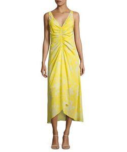 A.L.C.   Katherina Ruched Silk Midi Dress