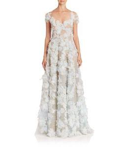 Marchesa | Ostrich Feather Gown