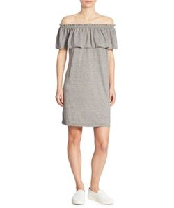 Current/Elliott | Solid Ruffled Dress