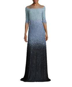 Pamella Roland | Beaded Chiffon Gown