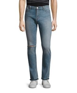Ovadia & Sons | Slim-Fit Distressed Jeans