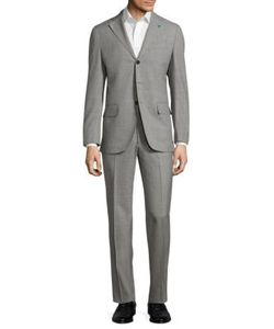 Isaia | Sharkskin Regular-Fit Wool Suit