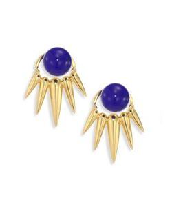 Nikos Koulis | Spectrum Lapis 18k Ear Jacket Stud Earrings