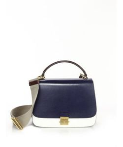 Michael Kors Collection | Colorblock Leather Top-Handle Bag