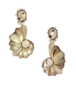 Alexis Bittar | Lucite Crystal Shell Clip-On Earrings