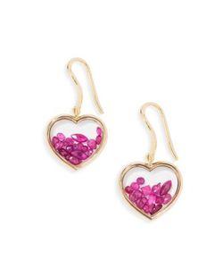 Aurelie Bidermann | Chivor Heart Ruby 18k Earrings