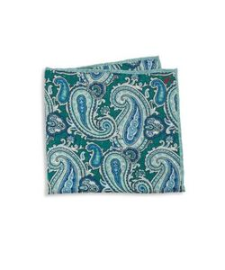 Isaia | Paisley Print Silk Pocket Square