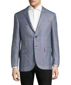 Corneliani   Plaid Regular-Fit Wool Blazer