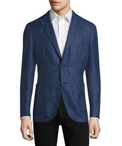 Boglioli | Tonal Plaid Wool-Blend Blazer