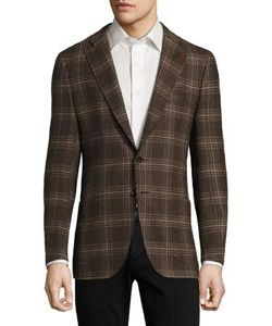Isaia | Regular-Fit Exploded Glen Plaid Wool Sportcoat