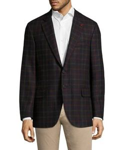 Isaia | Checked Wool Jacket
