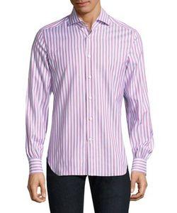 Kiton   Striped Casual Button Down Shirt