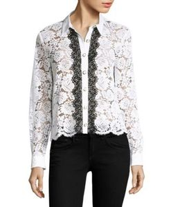 The Kooples | Moonlight Long Sleeve Lace Shirt
