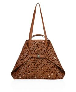 Akris | Ai Medium 2-In-1 Convertible Laser-Cut Leather Tote