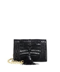Nancy Gonzalez | Small Crocodile Leather Convertible Clutch