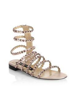 Sergio Rossi | Kimberly Suede Jewel Gladiator Sandals