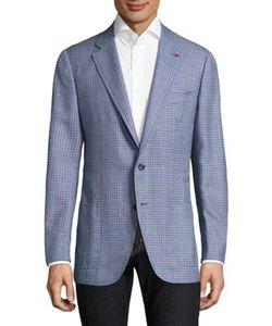 Isaia | Checkered Silk Blazer