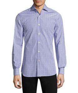 Kiton   Plaid Casual Button Down Shirt